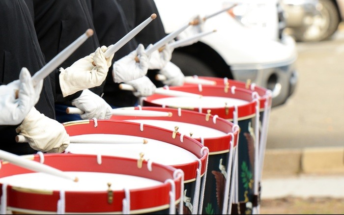 Drum Corps At The Rose Bowl Parking