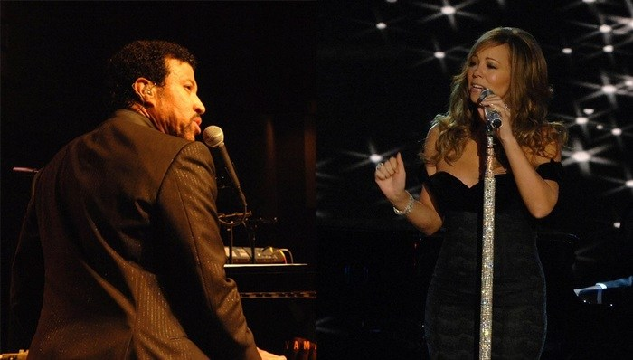 Lionel Ritchie with Mariah Carey Parking